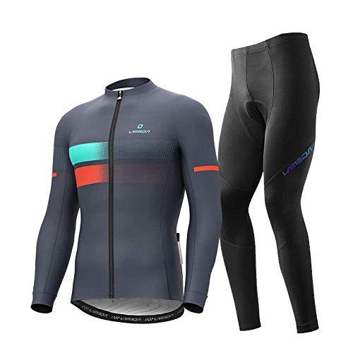 Geistergamaschen for das Laufen Radfahren, Fleece-Radfahrer-Jersey-Anzug, plus Samtverdickung der Herbst- und Winter-Mountainbike-Kleidung der Männer, die mit kaltem und warmem atmungsaktiv ausgestatt