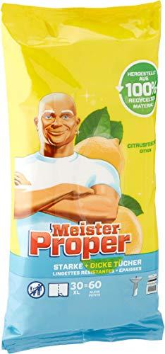 Meister Proper Lot de 8 packs de 60 chiffons de nettoyage Senteur citron