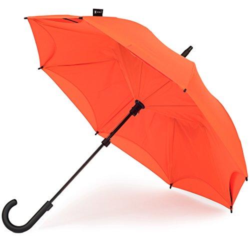KAZbrella® - Der Regenschirm neu erfunden / der Inside Out Regenschirm (gebogener Griff).