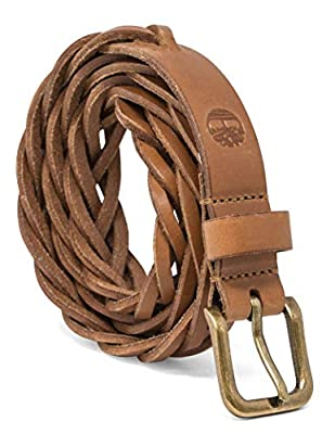 Timberland Women's Casual Leather Belt, Tan (Braided), Small (28-32)