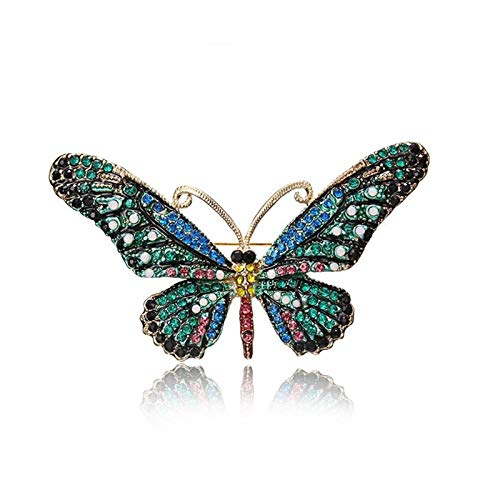 QYTSTORE Butterfly Pin Lady Pin, Size: 7.8 * 4.5 Cm, It Is The Best Gift For Insect Luxury Big Pin Scarf Elegant and romantic brooch (Color : Blue)