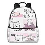 Wonder Cat Kyuu-Chan Compilation Student School Bag School Cycling Leisure Travel Camping Outdoor Backpack