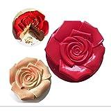 Chikanb Stampo in per Dolci a Forma di Rosa Fiore, 1 Pezzo Grande Rotonda Antiaderente teglie per Festa di Compleanno Fai da Te, Muffin Sapone Handmade Stampi per Tortini Cioccolato Dolci, 30 * 5 CM