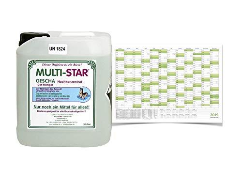 Multi Star Gescha Hochkonzentrat 5 Liter Gebinde mit 20L Mischkanister plus 1 Wandkalender 2020 DIN A1 gratis