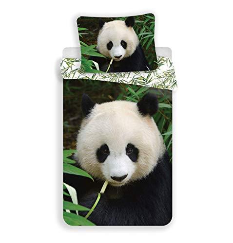JF Kinder-Bettwäsche-Set Panda-Bär-Motiv 140x200 cm 100% Baumwolle
