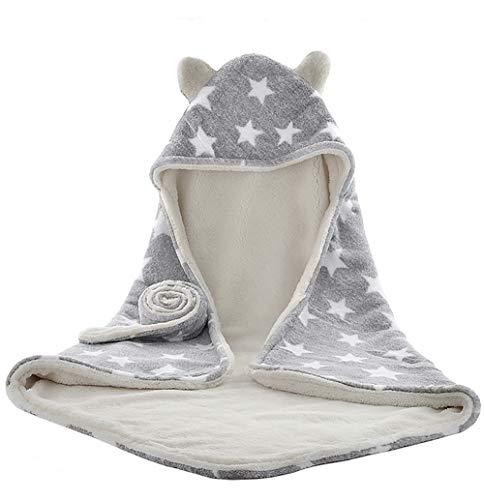 Cosy bebé bebé con capucha Swaddle manta cochecito toalla abrigo lindo estrella felpa franela baño baño abrigo invierno cálido recién nacido bebé manta de recepción para bebé niña niños 0-12M