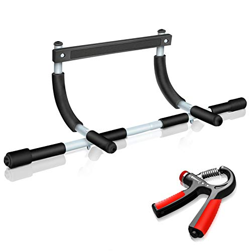 ROSRAN Pull Up Bar for Doorway Total Upper Body Workout Bar Pull-Up Bar Doorway Home Workout Bar Indoor Chin Up Bar for Strength Training Pull Up Bars at Home Exercise