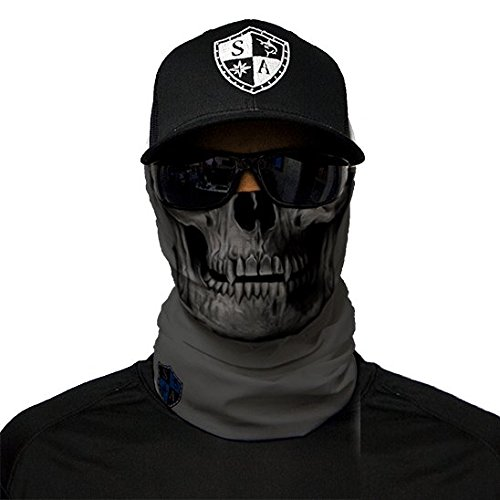 SA Company Herren Face Shield Grey Skull