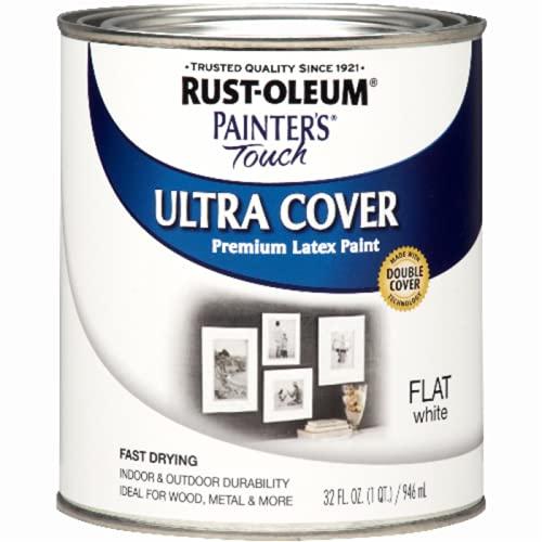 Rust-Oleum 1990502 Painter's Touch Latex Paint, Quart,...
