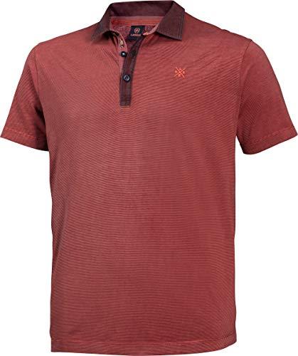 LERROS Herren Polohemd in Rot, Kurzarm-Poloshirt aus 100% Baumwolle, angenehmer Modern Fit-Schnitt, Gr. 48-60