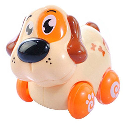 Lot de 2 bébés Cartoon Dog Wind-up Toy Car Car (Multicolor)