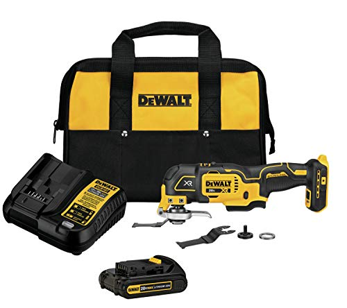 DEWALT 20V MAX XR Oscillating Tool Kit, 3-Speed (DCS356C1) w/ Battery and Charger $99