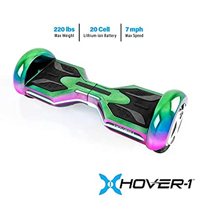 Hover-1 Hoverboard Bluetooth Speaker Self Balancing Hover Board Electric Scooter for Kids and Adults, 24 x 8 x 8.5