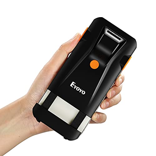 Eyoyo Bluetooth Barcode Scanner, 3-in-1 Back Clip-on Phone Scanner Portable Wireless,USB,Vibration,Cordless,Rechargeable 1D Bar Code Reader for Inventory Management Compatible with iPhone,Android, iOS