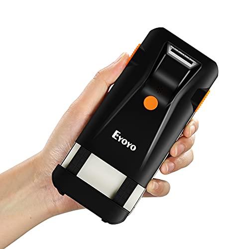 Eyoyo 1D Escáner de Código de Barras, Mini Lector de Código de Barras Portátil 3-en-1 Modo de Conexión Bluetooth 2,4G Inalámbrico Cable USB para Windows, Android, iOS, Móvil, Tableta y Computadora