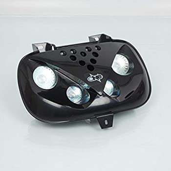 colore TNTTU doppio ottico 4 lampade alogena LED e adattatore Booster bianco