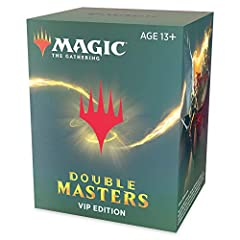 Double Masters VIP Edition contains a combination of 4 rare or mythic rare foils (see below for contents) —2 featuring beautiful borderless art, printed here for the first time. Play with some of the most dominating Magic cards ever, whether you're i...