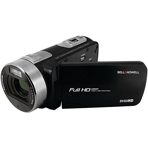 BELL+HOWELL 20.0 Megapixel 1080p Dv50hd Fun-Flix Camcorder, Black (DV50HD-BK)