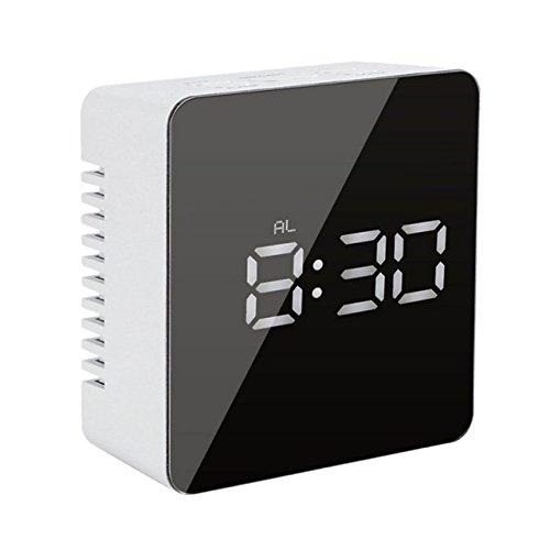 Zeerkeer wekker met temperatuurweergave, digitaal, USB-aansluiting, dubbel, voor mobiele telefoons en thuiskantoor