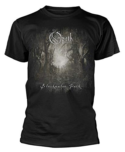 SHUBIAO Mens T-Shirt Opeth Blackwater Park Short Sleeve Crewneck Tee Black XL