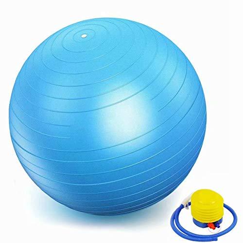 Balón de ejercicio para fitness, diseño especialmente grueso y antiestallido, para yoga, pilates y fitness, color azul claro, tamaño 70cm