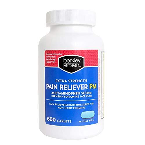 Berkley Jensen Extra Strength Non-aspirin Pm Caplets, 500 Count by Berkley and Jensen