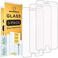 Mr.Shield [Tempered Glass] Screen Protector for iPhone 6 / iPhone 6S / iPhone 7 / iPhone 8 [3-Pack] Screen Protector...