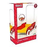 BRIO 31350 Andador Primeros Pasos Rojo/Amarillo, BRIO TODDLER, Edad Recomendada 9-12 Meses