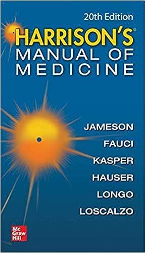 Harrisons Manual of Medicine 20th Ed 2020