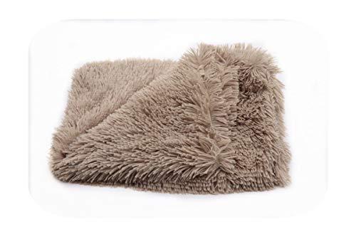 Pet Winter Blanket Dogs Warm Medium Cover Large Sleeper Mattress Plush-brown-S 56x36cm