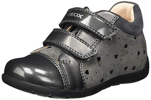 Geox Baby-Mädchen B Kaytan B First Walker Shoe, (Dark Grey), 22 EU