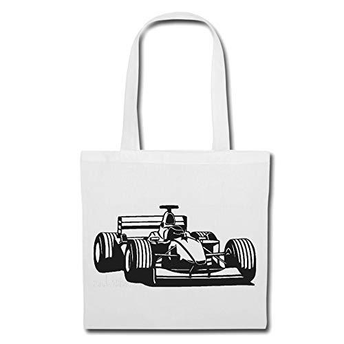 Tasche Umhängetasche Formel 1 - Schumacher - Rennsport - DTM - TOURENWAGEN Einkaufstasche Schulbeutel Turnbeutel in Weiß