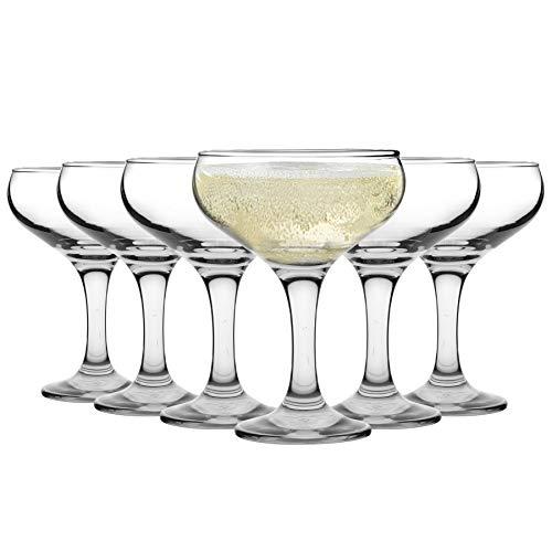 Rink Drink Copa achatada de champán - Estilo Vintage - 200 ml - Pack de 6