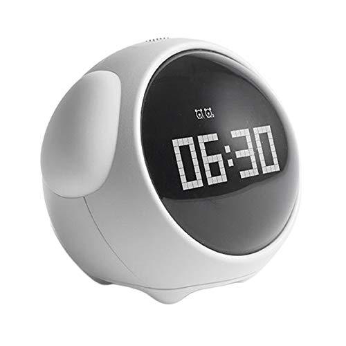 Generic Expresión Reloj Despertador Digital Posponer Modo Fin de Semana Luz Nocturna - Blanco, Individual