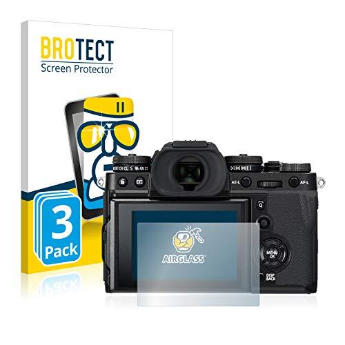 BROTECT Panzerglas Schutzfolie kompatibel mit Fujifilm X-T3 (3 Stück) - 9H Extrem Kratzfest, Anti-Fingerprint, Ultra-Transparent