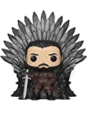Funko - Pop! Deluxe: Game of Thrones S10: Jon Snow Sitting on Iron Throne Figura Coleccionable, Multicolor (37791)