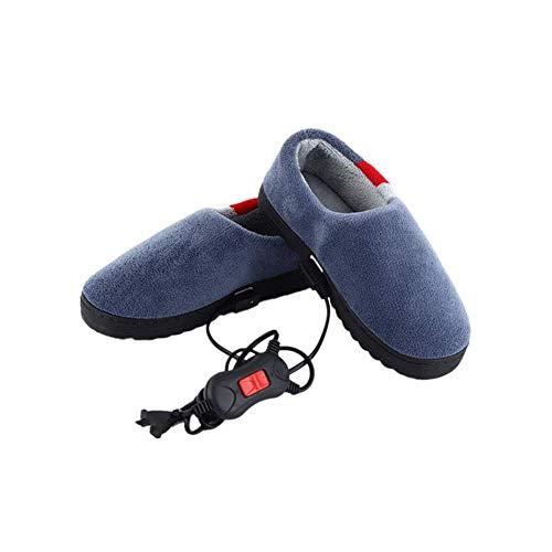 Zapatillas Térmicas de Invierno Para Hombres,Calefacción Eléctrica de Lana de Coral,Calentador de...