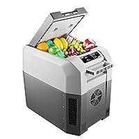 コンパクトポータブルカー冷蔵庫フリーザー24L、ミニ電動クールボックスイグルー12 / 24V、化粧品、食品、飲料、ワイン、旅行キャンプ、ピクニック