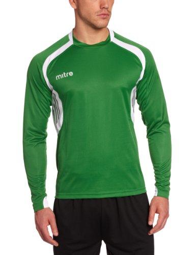 Mitre Pressure - Camiseta de equipación de fútbol para Hombre, Color Verde Claro/Blanco, Talla Medium/38-40 Inch