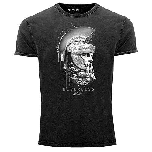 Neverless - Camiseta de manga corta para hombre, estilo vintage, diseño con...