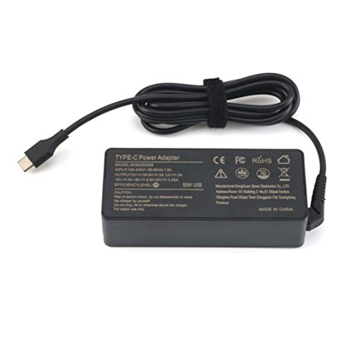 New USB-C 65W Standard AC Adapter for Lenovo Yoga C930-13, Yoga S730-13, Yoga 920-13, Yoga 730-13, IdeaPad 730s-13