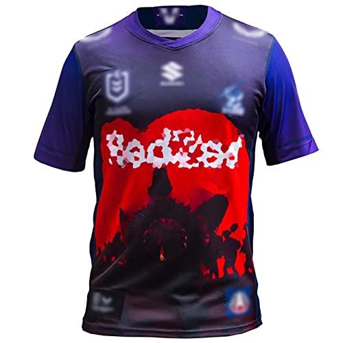 Speed-SY Camiseta De Rugby De Melbourne 2021, Camiseta De Polo De Uniforme De Entrenamiento Deportivo De Manga Corta del Equipo De La Copa del Mundo De Rugby Storm