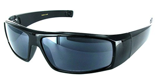 The Unisex Wrap Around Terminator Sun Reader Reading Glasses for Men and Women +1.00 Black (Carrying Case Included)