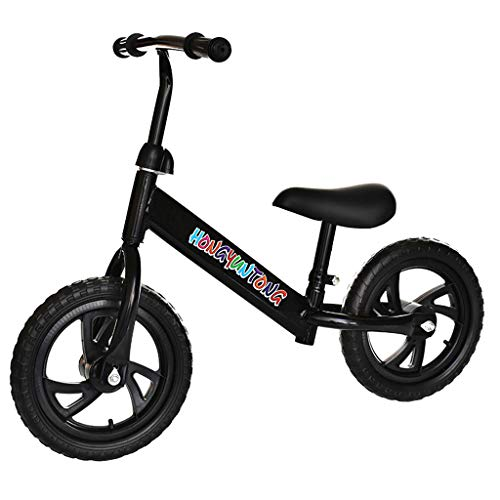 US Warehouse 12 Inch Kids Balance Bike Adjustable Frame Children Lightweight Traning Bicycle No-Pedal Learn to Ride Bike Walking Balancing Bicycle for 2 3 4 5 6 Years Old Toddlers (12 Inch, Black)