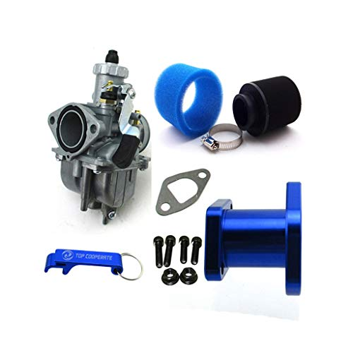 TC-Motor Racing Performance Carburetor Carb Mainfold Air Filter For Predator 212cc GX200 196cc Mini Bike Go Kart (Blue)