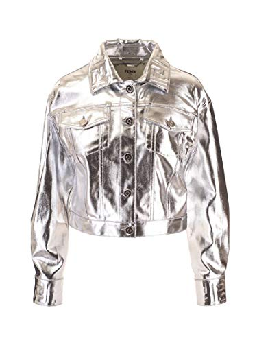 Luxury Fashion | Fendi Dames FLF589A9FBF0HH3 Zilver Katoen Jassen | Lente-zomer 20