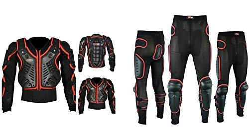 Motocicleta Motocross Spine Completo Protección de la Armadura del Cuerpo de Protección de la Chaqueta de Engranaje de la Seguridad de la Seguridad de los Pantalones Completos
