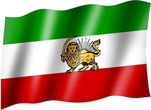 Flagge/Fahne PERSIEN (IRAN alt/Schah) Staatsflagge/Landesflagge/Hissflagge mit Ösen 150x90 cm, sehr gute Qualität