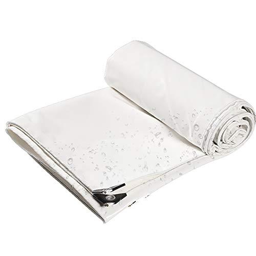 Enjoy4Life - Lona impermeable gruesa de color blanco, resistente, ideal para toldo de lona, barco, RV o piscina cubierta 550 g/㎡ (tamaño: 3 x 5 m)