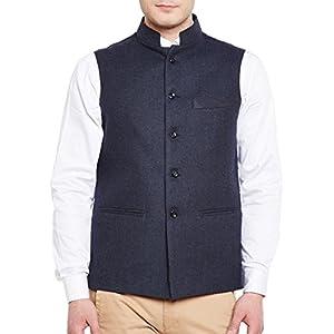 WINTAGE Men's Tweed Bandhgala Festive Nehru Jacket Waistcoat -3 Colors 1 41B1oDzhQWL. SL500 . SS300
